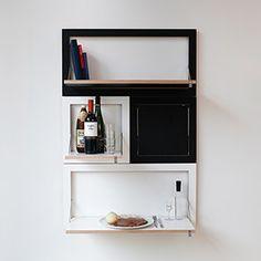 Fläpps Shelf Set de 4 Negro / Blanco