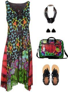 Desigual gekleurde outfit :)