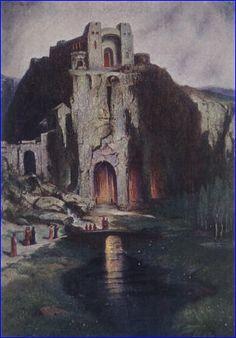 Die Riesenburg - Wandgemälde von Hermann Hendrich.