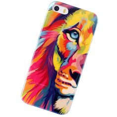 New Fashion Blu-ray TPU Silicone Skin Back Cover Leopard Tiger Lion Case for iPhone 5 5s Flower Red Lip Eiffel Tower Case