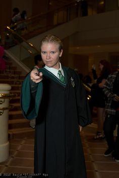 "Draco Malfoy, Pacific Media Expo 2012 - Sunday - David ""DTJAAAAM"" Ngo Draco Malfoy Costume, Slytherin House, Masquerade Costumes, Amazing Cosplay, Larp, Harry Potter, Sunday, David, Halloween"