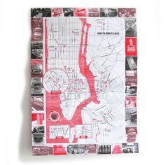ニューヨークマップ | NYC Maps / burger, doughnuts, ramen - PAPERSKY STORE  - 6