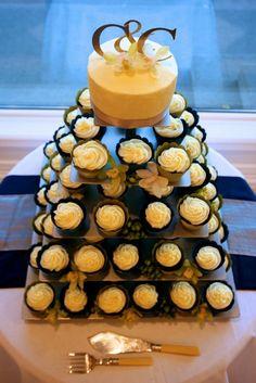 wedding cupcakes - j B e topper