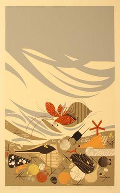 Crabitat by Charley Harper, 1987.