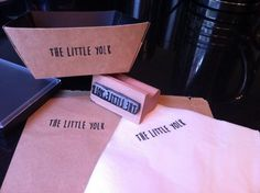 """Thank you @englishstamp for helping us jazz up the takeaway boxes, bags & napkins!"" The Little Yolk"
