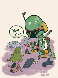 """"""", Young Boba Fett plays with his Future Enemies. Boba Fett, Star War 3, Death Star, Nerd Love, The Force Is Strong, Love Stars, Geek Out, Cultura Pop, In Kindergarten"""