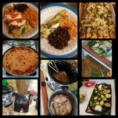 Homemade chicken enchiladas, with homemade roasted tomatillo salsa, rice and black beans