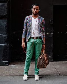 Guy tips: How to pull off colored jeans