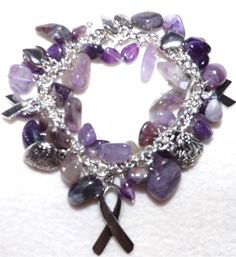 Epilepsy Awareness Bracelet by KarleensIdeas on Etsy,