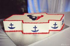 Houston Texans groom cake   photo by Kreative Angle Photography