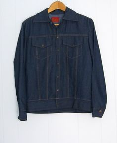 ff6d147254843 Vintage Kings Road Denim Snap Jacket Men s Sears Small Medium  Sears   BasicJacket