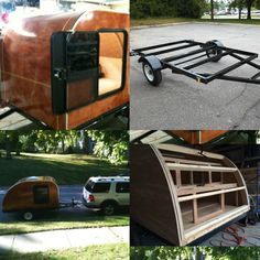 Everything you need to make your own teardrop trailer for camping! 5x8 trailer frame includes trailer lights, so set up is easy.