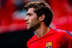 Sergi Roberto of FC Barcelona during the match between Real Sporting de Gijón vs Futbol Club Barcelona at estadio El Molinón on September 24 2016 in...