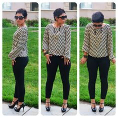 Refashioned Top + Patent Leather Pumps