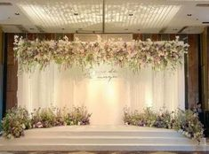 New Wedding Decorations Stage Floral Design 31 Ideas Wedding Backdrop Design, Wedding Hall Decorations, Wedding Stage Design, Wedding Flower Design, Wedding Reception Backdrop, Wedding Entrance, Backdrop Decorations, Wedding Flowers, Flowers Decoration