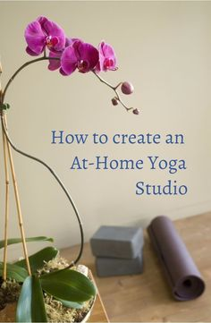 Practising yoga at home makes it flexible and easy to incorporate into your life - here's how I did it. #yogaathome