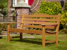 Hartman Lydbury 3 Seat Bench with Free Brass Plaque Link: http://www.hayesgardenworld.co.uk/product/hartman-lydbury-3-seat-bench-free-brass-plaque