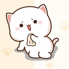 Cute Cartoon Images, Cute Cartoon Wallpapers, Cute Images, Chibi Characters, Cute Characters, Kittens Cutest, Cute Cats, Chibi Cat, Cute Love Gif