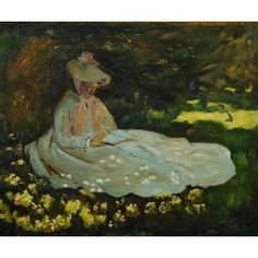 Monet - Camile Reading Oil Painting  www.OverArts.com