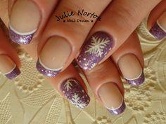 Nail Art - Snow, French, Winter
