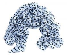 White Spot Ruffle Scarf.  Approx. 50 x 230cm.  £10.00  http://www.icejewellery.com/nataliewilkinson/1/