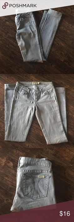 Gray Skinny Jeans Probably some of the most comfortable jeans ever! Steel gray skinny jeans with spandex included for stretch. Jeans Skinny