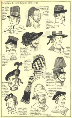 Headdresses, 1840-60's. Village Hat Shop Gallery. Chapter 15 - Victorian and Second Empire 1840-1870.: