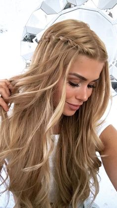 Formal Hairstyles For Long Hair, Long Curly Hair, Quick Hairstyles, Wedding Hairstyles, Simple Prom Hairstyles, Dance Hairstyles, Prom Hair Medium, Long Prom Hair, Pretty Hairstyles