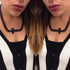 Express Yourself. Black matte cross fashion jewelry accessories affordable fabulyss