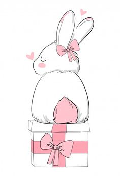Discover thousands of Premium vectors available in AI and EPS formats Cute Bunny, Bunny Art, Rabbit Illustration, Watercolor Illustration, Happy Holidays Greetings, Rabbit Drawing, Funny Doodles, Christmas Doodles, Cute Wallpaper For Phone