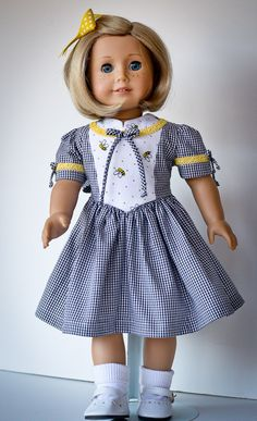 RESERVED 1940s Bees and Gingham by AnnasGirls on Etsy, $45.00