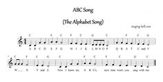 """""""ABC Song (The Alphabet Song)""""  Music Score / sheet music with chords"""