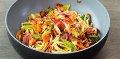Asijská kuchyně vyniká hlavně tím že je lehká na trávení a rychlá na přípravu. Přesvědčte se sami v našem receptu na čínské nudle se zeleninou a... Asian Recipes, Ethnic Recipes, Wok, Japchae, Cabbage, Spaghetti, Food And Drink, Pasta, Yummy Food