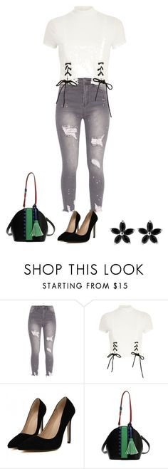 """Untitled #4734"" by everlastinglovefashion ❤ liked on Polyvore featuring River Island"