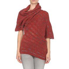 STEFANEL Short sleeve sweaters - Item 39312532 ❤ liked on Polyvore