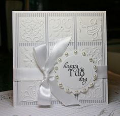 Krystal De Leeuw http://krystalscardsandmore.blogspot.com/ Lovely wedding card!