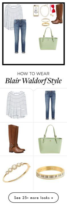 """Add a little bit of Blair Waldorf"" by allik02 on Polyvore featuring MANGO, Current/Elliott, Tory Burch, Kate Spade, J.Crew and Casetify"