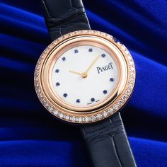 Introducing the new Piaget Possession Bucherer BLUE. A masterpiece of pink gold, diamonds and sapphires exclusively made for Bucherer. Pink And Gold, Sapphire, Diamonds, Blue, Stuff To Buy, Accessories, Diamond