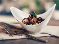 Creamy polenta with balsamic mushrooms - Recipes - Kitchen Stories