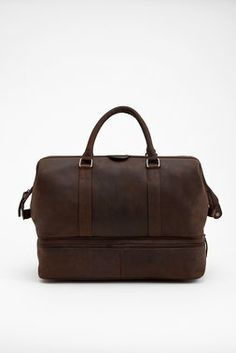 204ff3f76881 Leather Weekender with Shoe Compartment Luggage Shop
