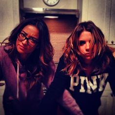 Shay and Ashley (who looks extremely tired and fed up, guess it was a long day on set!)