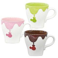 [Set goods] suite mug [mug / Chokomagu] Bitter & Strawberry & pistachio three-piece set chocolate Mickey Mouse Disney