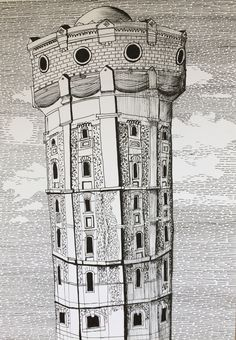 Water tower (ink on paper) #art #artstagram #drawingoftheday #artworks #sketchoftheday #modernart #fineart #sketchbook #instaart #artwork #artdaily #draw #originalartwork #drawing #worldofartists #artistsoninstagram #artoftheday #рисунокручкой #mysketchbook #finelinersketch #inktober #inkdrawing #inktober2017 #blackandwhitedrawing #illustration #inkpen #penart #рисунок #графика #pendrawing