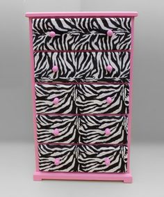 would be perfect in Rylees room! Take a look at this Pink  Zebra Dresser  by Funky Kids by Mauricios Furniture on #zulily today! love