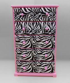 Pink  Zebra Dresser girls-stuff