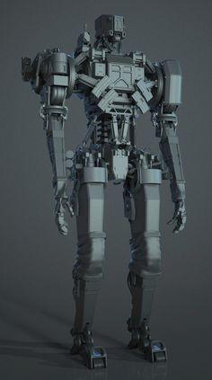 Black ops 3 Assault Robot., Joel Durham on ArtStation at https://www.artstation.com/artwork/41YY8