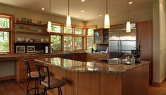 Image detail for -Kitchen with custom island.