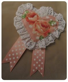 The Red-Headed Snippet: Tuesday Tutorial: heart rosette brooch