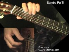 Guitar lesson with tab, chords, PDF and video tutorial. Fingerstyle guitar cover of Samba Pa Ti by Carlos Santana Electric Guitar Chords, Acoustic Guitar Chords, Guitar Scales, Music Chords, Samba Pa Ti, Santana Guitar, Fingerstyle Guitar Lessons, Guitar Chord Chart, Learn To Play Guitar