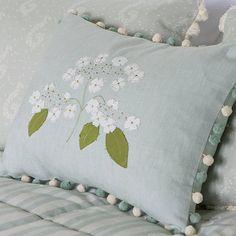 hydrangea cushion by susie watson designs | notonthehighstreet.com £39+£4.95pp BOUGHT